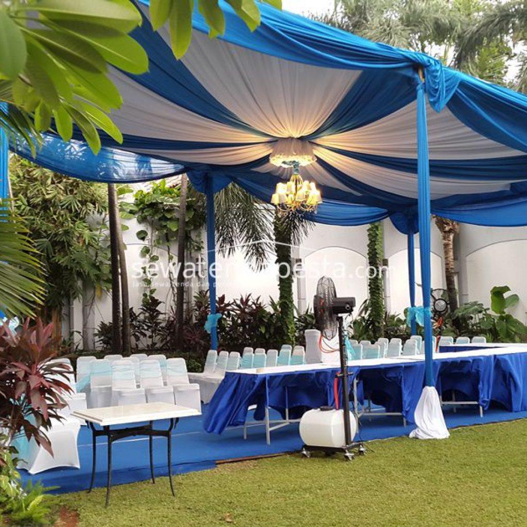 gambar tenda dekorasi biru