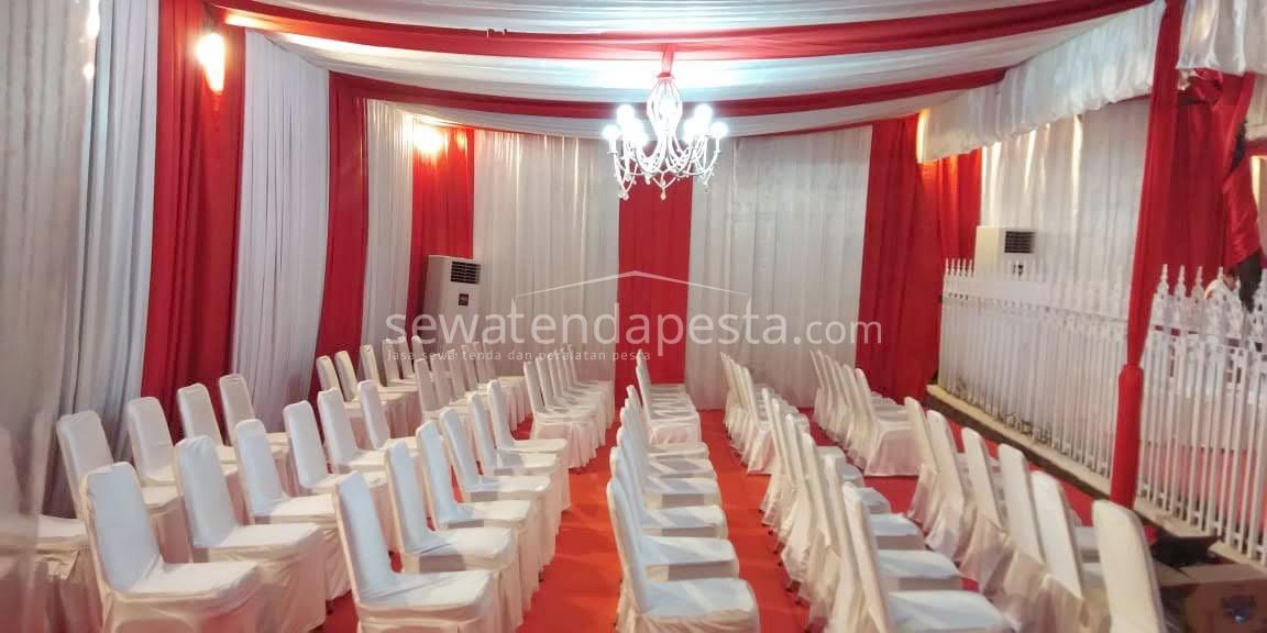 gambar tenda dekorasi merah putih
